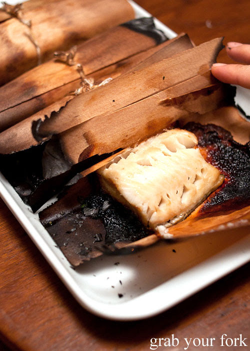 saikyo miso marinated toothfish roasted over charcoal