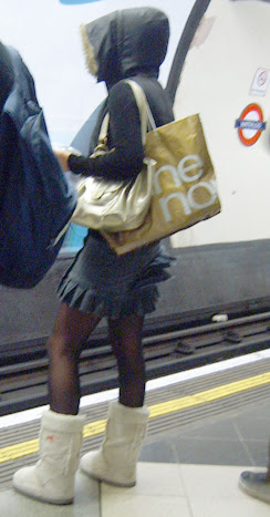 OHMIGOD They've snapped Kenny's Sister on the London Underground