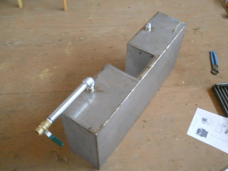 Preparing Wood Burning Stove Water Warming Tank