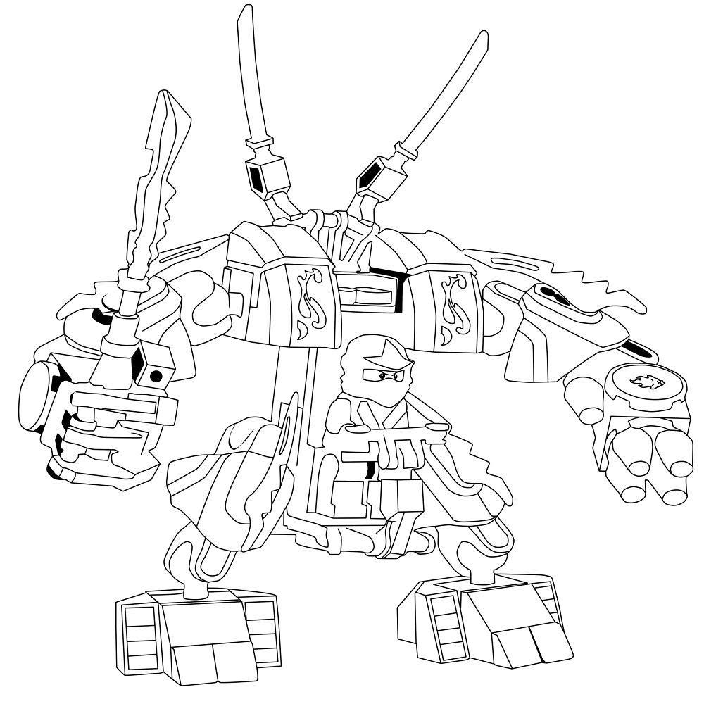 ausmalbilder ninjago roboter - 28 images - 10 best ...