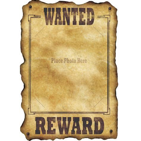 "Western Jumbo 17"" Wanted Photo Sign Party Supplies Canada"