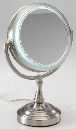 Lighted Makeup Mirror Rialto Natural Daylight Lighted 10x