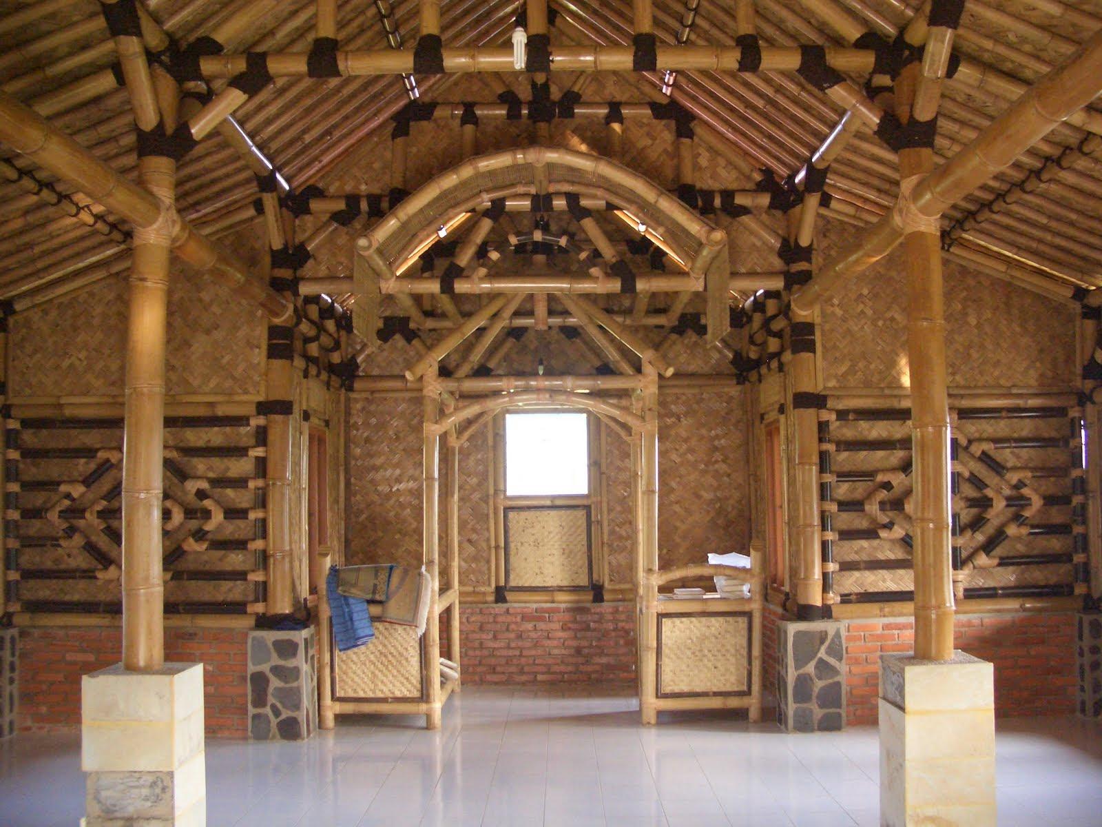 gambar desain rumah bambu minimalis sederhana terbaru | desain rumah