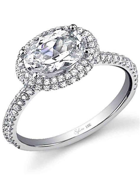 12 East West Engagement Rings   Martha Stewart Weddings