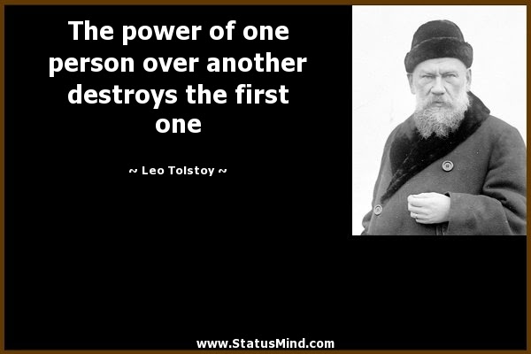 The Power Of One Person Over Another Destroys The Statusmindcom