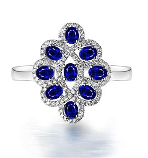 carat vintage unique blue sapphire  diamond