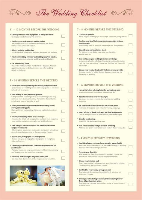 The Importance of Printable Wedding Planning Checklist