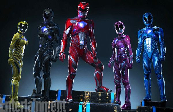 A group pic showing the new Power Rangers...from next year's POWER RANGERS movie.