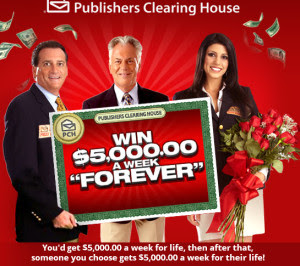 Deals  Discounts  PCH 5000 A WEEK FOR LIFE 300x266 Win $5,000 A Week Forever, Ford Car and other Prizes