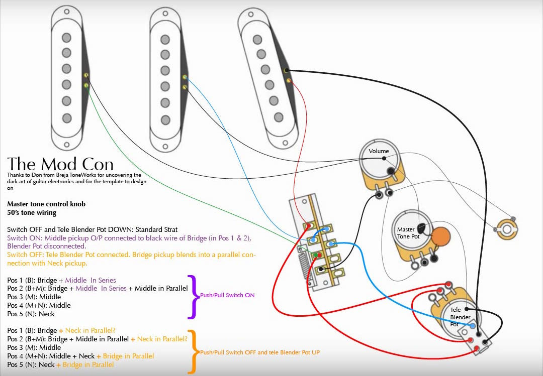 With Push Pull Tone Pot Wiring Diagram For Telecaster ...