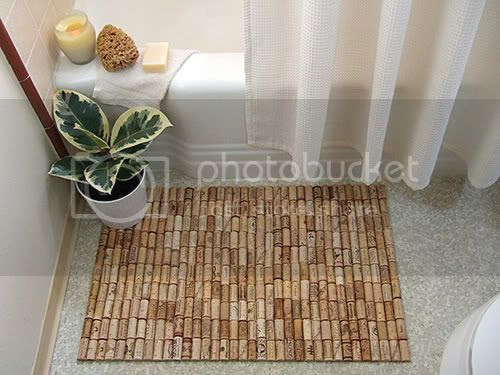 Bath Mat out of Wine Corks