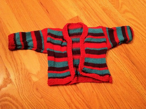 Stripey Baby sweater