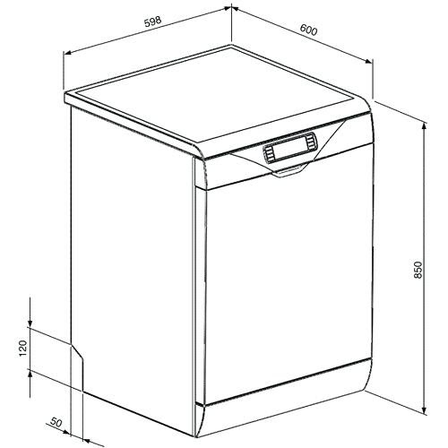 Dishwasher Standard Width Opendoor