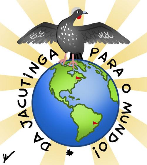Jacutinga para o mundo, jacutinga, santa cruz do rio pardo, EUA, brasil, ilustração by ila fox