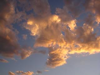 Golden Valley, AZ sunset funnel cloud