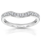 Kobelli 1/6 Carat (ct.tw) Diamond Round Notched Wedding