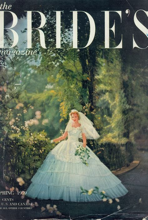 Alfred Angel on the Brides cover, Spring 1959, vintage