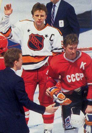 Gretzky & Fetisov jersey swap