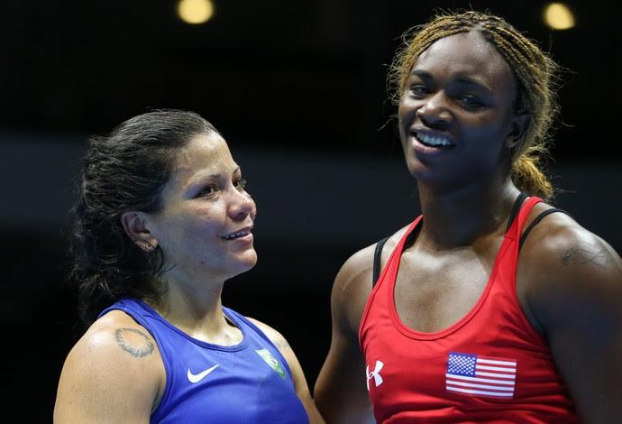 Flavia Figueiredo; boxe; Jogos Pan-Americanos; Claressa Shields (Foto: Saulo Cruz/Exemplus/COB)