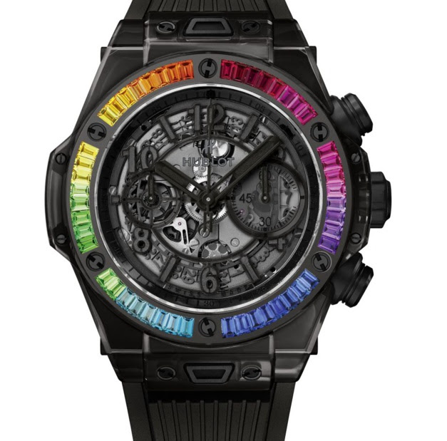 Hublot Big Bang All Black Sapphire Rainbow : explosion de couleurs