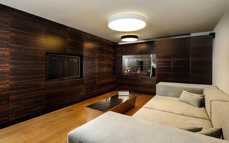 Boden und Wandgestaltung in Weiß - Modernes Haus Design