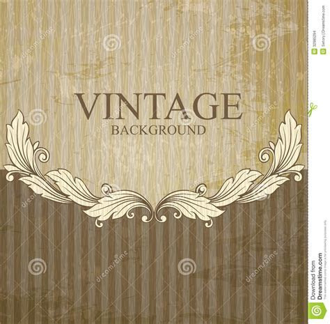 Vintage scroll pattern stock vector. Image of abstract