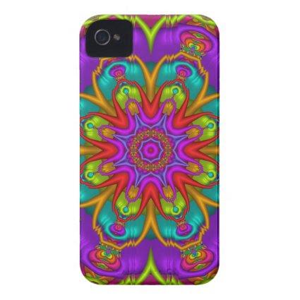 Decorative kaleidoscope iPhone 4 case