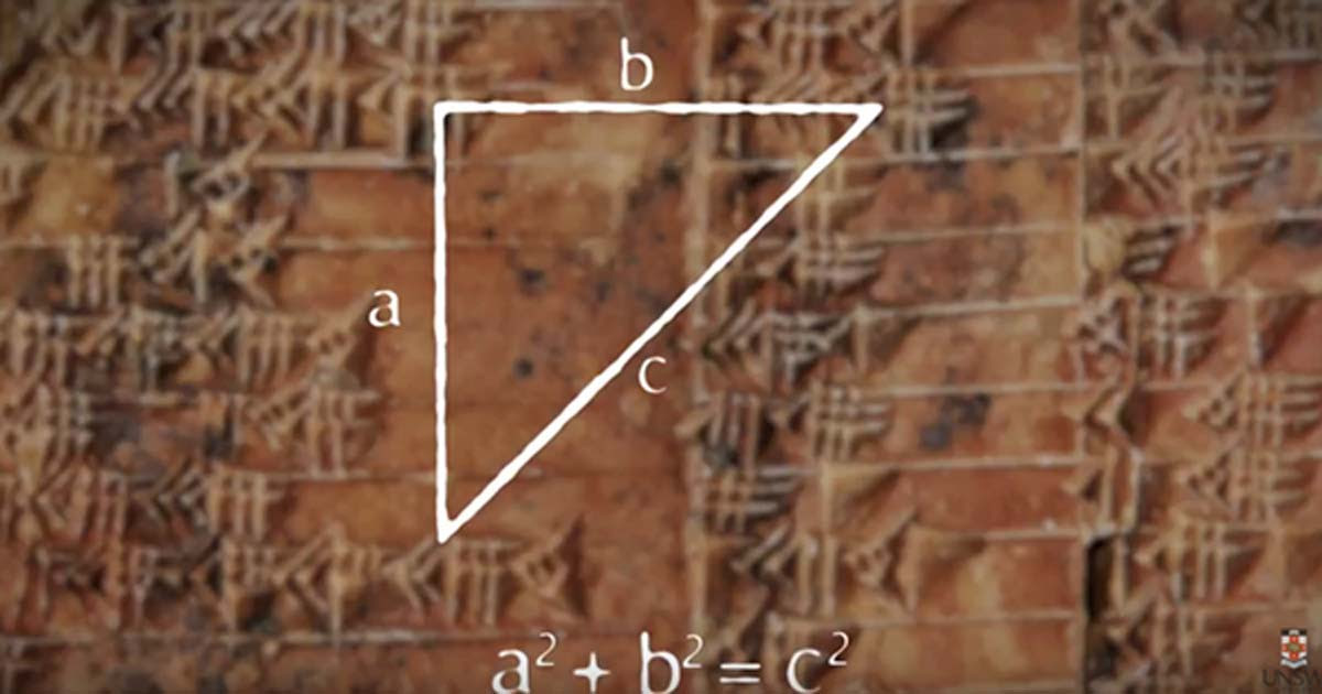 The 3700-year-old Babylonian tablet with the 'Pythagorean theorem.'
