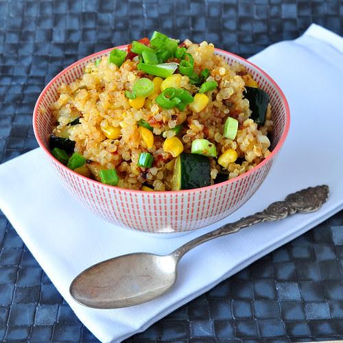 Lemony Zucchini and Corn Quinoa