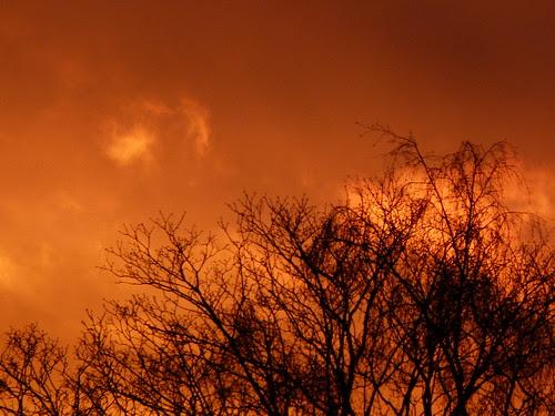 Flammender Himmel in Cuxhaven