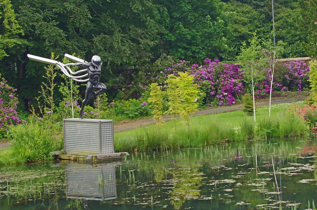 The Stig at Alnwick Gardens?