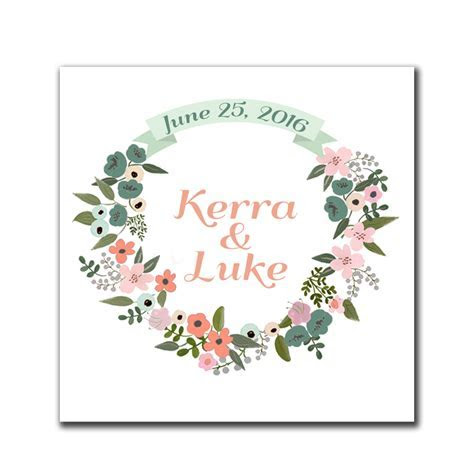 Floral Wreath Rustic Favor Tags   The Print Cafe