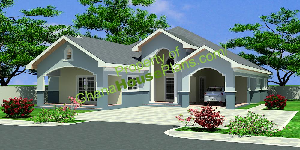 4 Bedroom Single Storey Family House Plan Ghana Homes