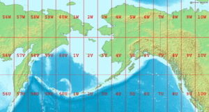 Map of the Bering Sea, with the Aleutian Basin...