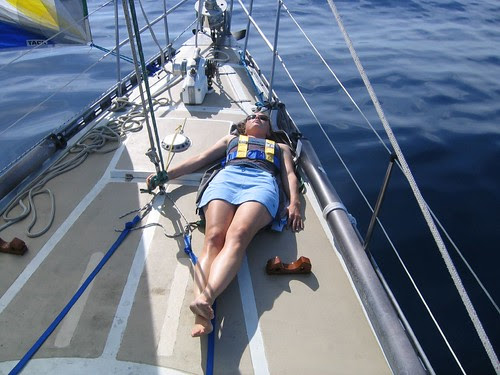 nap on foredeck