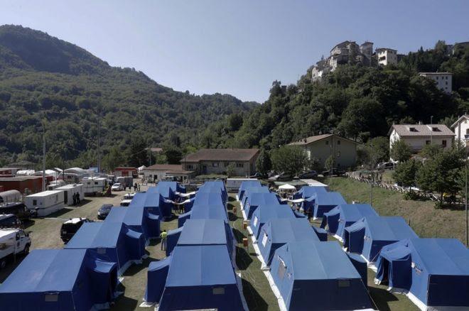 Arquata del Tronto tented camp, 28 Aug 16