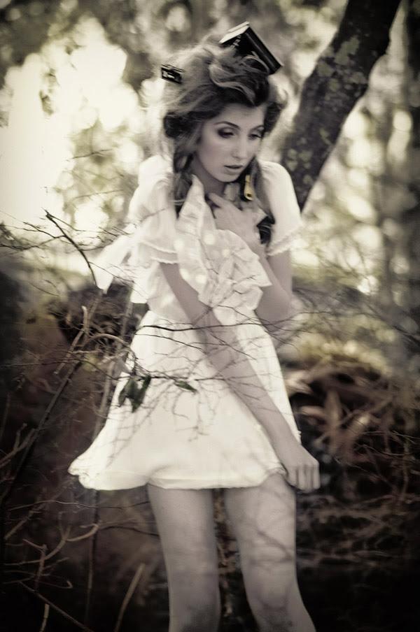 Alice's Dreamtime; Winter Fashion Editorial, Piano in Hair