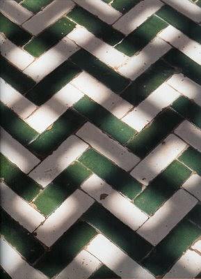 Supercozy Green And White Herringbone Floor Tile Inspiration