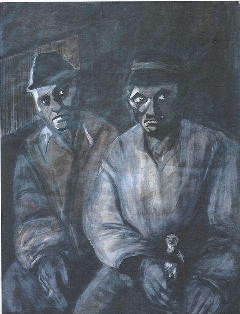 Δύο ήρωες του Samuel Beckett χωρίς προέλευση και προορισμό. Αλύτρωτοι και μελαγχολικοί κλοσάρ (clochard). Ο ένας διηγείται κάτι, στον άλλο,  ώστε η ανθρώπινη μονάδα ή δυάδα να νιώσει κατευνασμένη.