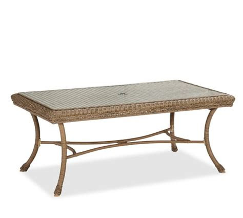 saybrook  weather wicker rectangular fixed dining table