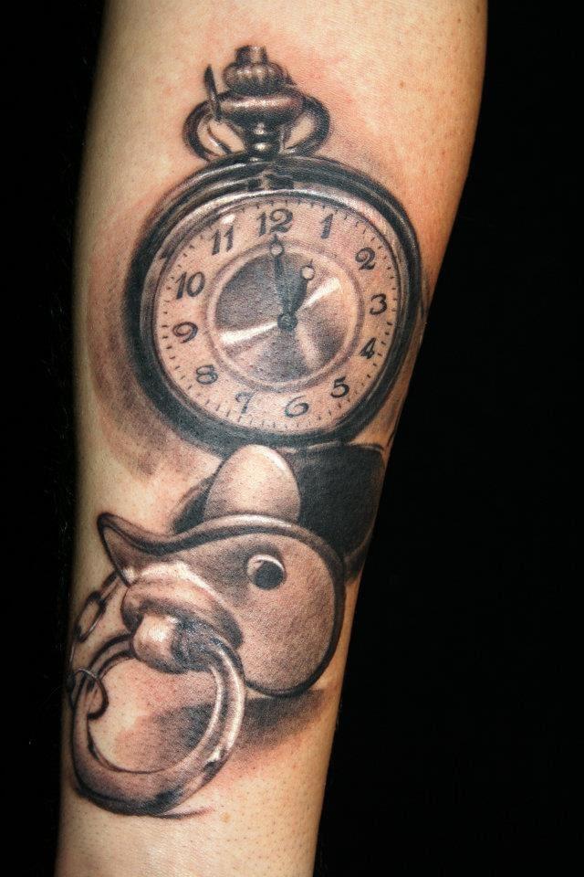 Clock Tattoo Designed By Laura Juan Design Of Tattoosdesign Of Tattoos