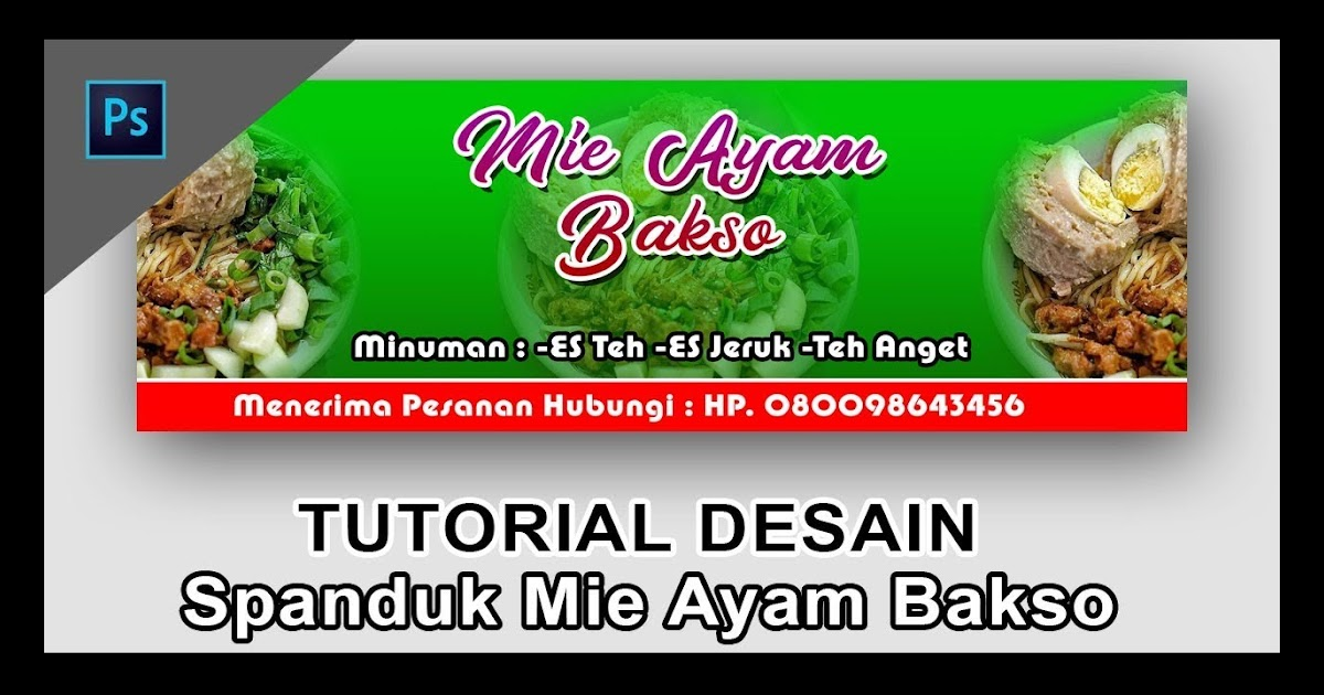 Contoh Banner Jual Mie Ayam - desain spanduk keren