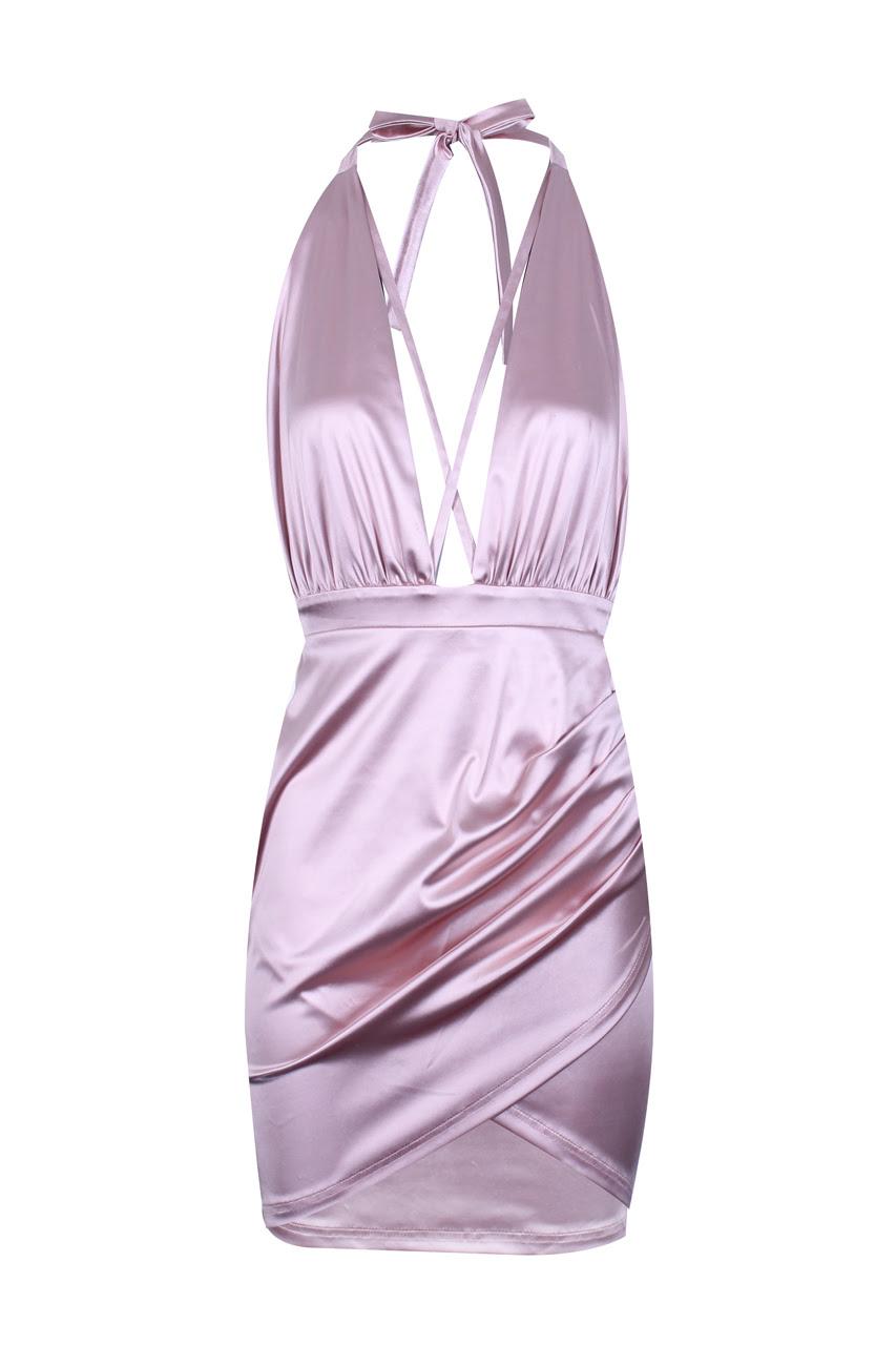 English charleston Round Neck Asymmetric Hem Color Block Bodycon Dresses bulk collection qualicum