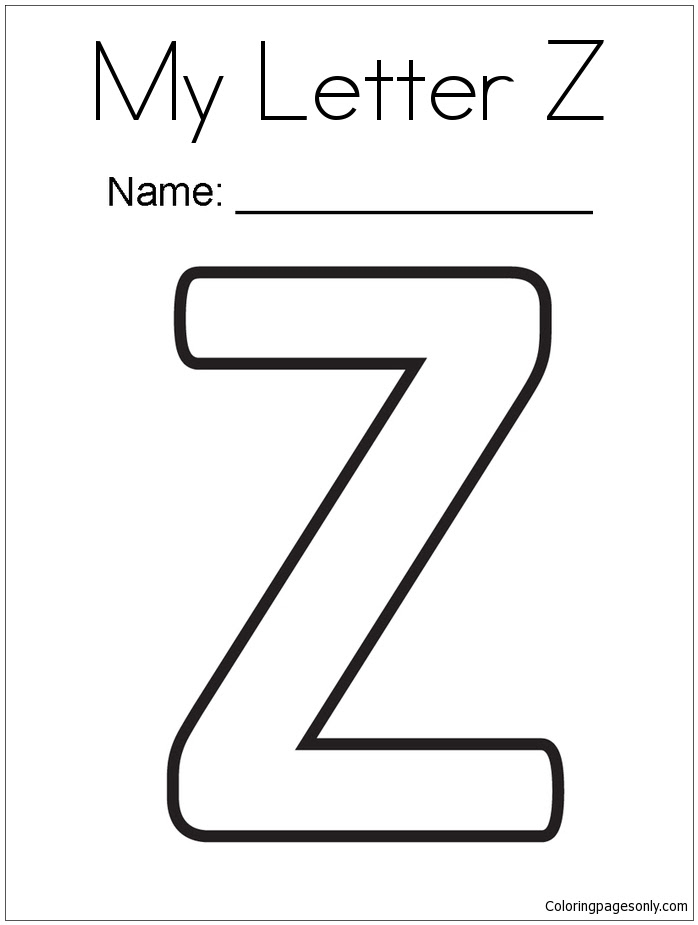 My Letter Z Coloring Page Free Coloring Pages Online