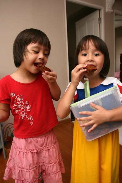 Kids can help themselves to food