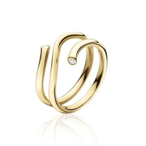 Georg Jensen Gold Ring w/ Diamonds   Magic #1513 A   eBay