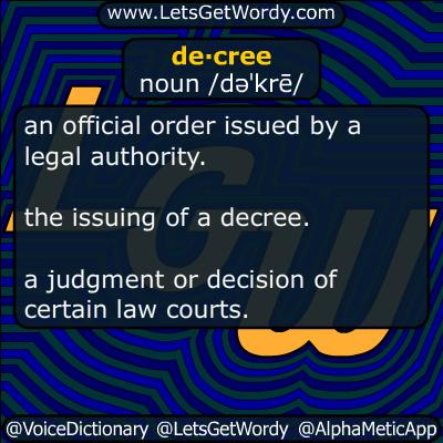 decree 11/04/2016 GFX Definition