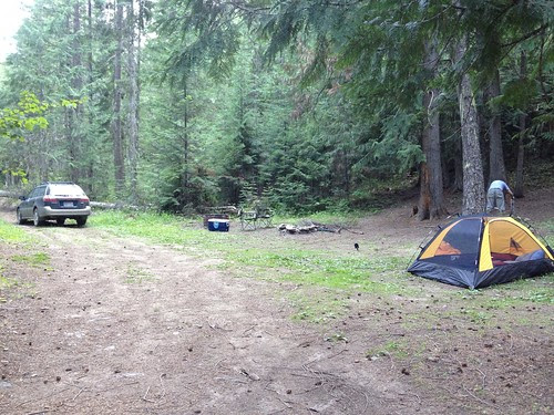 Camp site at Diamond lake