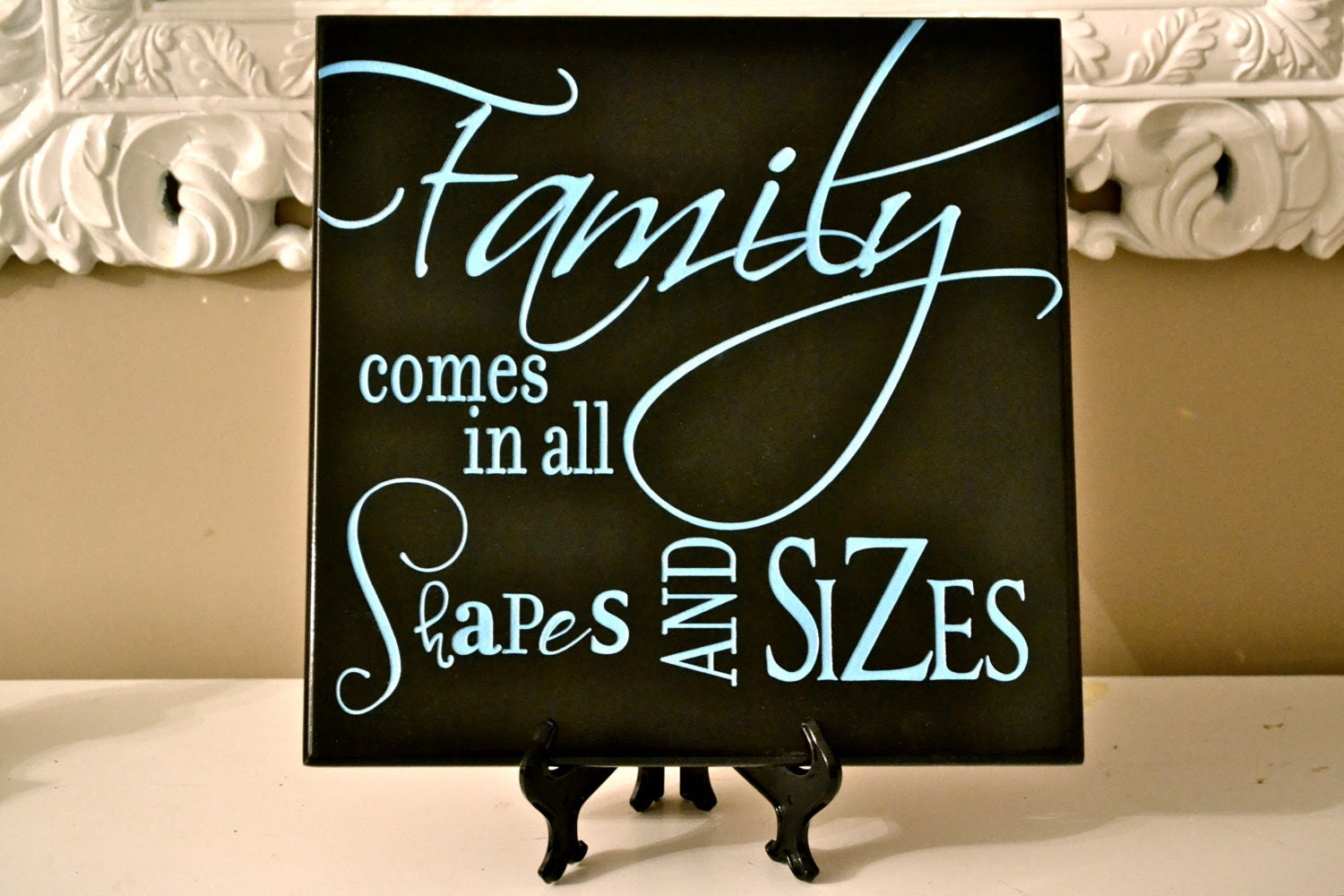 Wall Decor Quote Sign Custom Wood Carved Family by CRSWoodDesigns
