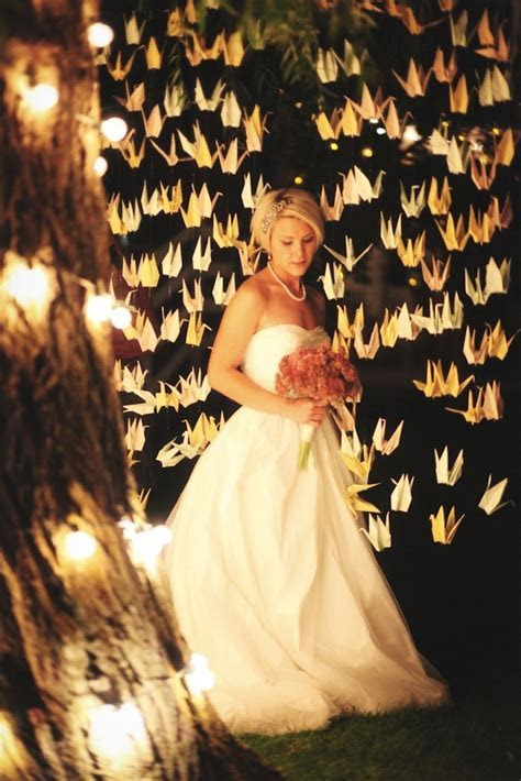 Elegant Paper Crane Wedding Ideas   Unique Pastiche Events